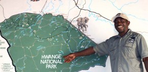 Victor with the Map of Hwange